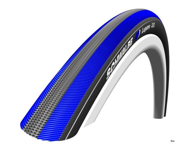 SCHWALBE Lugano Punture Protection Tyre 700 x 23c Black with blue stripe click to zoom image