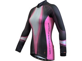 FUNKIER CLOTHING Womens Long Sleeve Thermal Jersey Grey/Pink