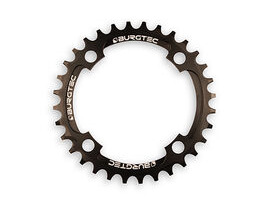 BURGTEC Narrow Wide Thick Thin Chainring in Black 104bcd