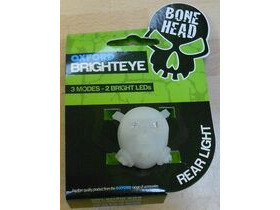 OXFORD Brighteye Bonehead Rear LED Cycle light in White