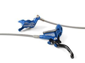 HOPE Tech3 E4 Braided Hose brake with Floating Rotors and Mount in Blue