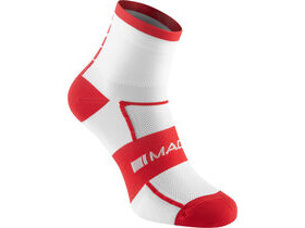 MADISON Sportive men's mid sock twin pack, white / flame red