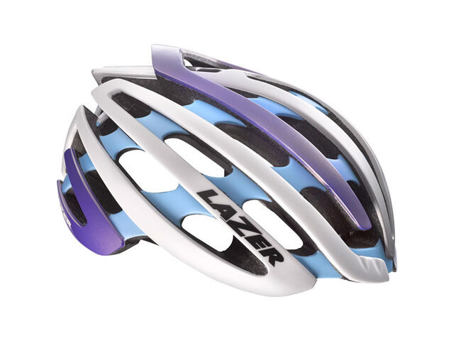 LAZER HELMETS Z1 with Aeroshell blue / silver small helmet 2015 click to zoom image