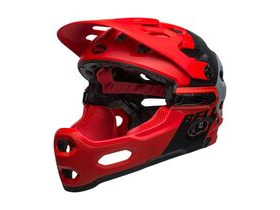BELL CYCLE HELMETS Super 3r Mips MTB Helmet: Downdraft Matte Crimson/Black