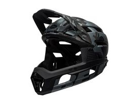 BELL CYCLE HELMETS Super Air R Mips MTB Full Face Helmet Matte/Gloss Black Camo