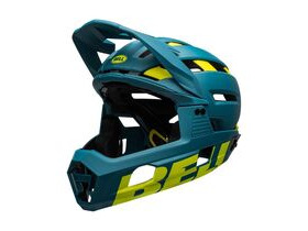 BELL CYCLE HELMETS Super Air R Mips MTB Full Face Helmet Matte/Gloss Blue/Hi-viz