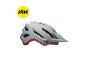 BELL CYCLE HELMETS 4forty Mips MTB Helmet 2019: Cliffhanger Matte/Gloss Grey/Crimson