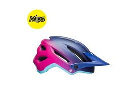 BELL CYCLE HELMETS Hela Mips Women's MTB Helmet 2018: Matt/Gloss Navy/Cherry Fibers