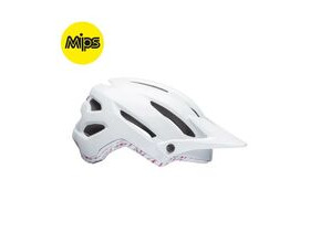 BELL CYCLE HELMETS Hela Mips Women's MTB Helmet 2018: Matt/Gloss White/Cherry Stone