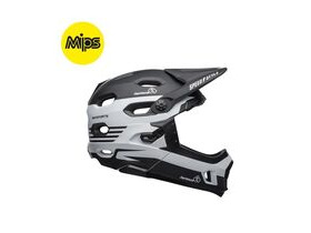 BELL CYCLE HELMETS Super Dh Mips MTB Helmet 2019: Fasthouse Stripes Matte Black/White