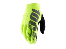 100% Brisker Cold Weather Glove 2019 Fluo Yellow