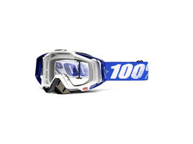 100% Racecraft Goggles Colbalt Blue / Clear Lens