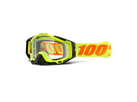 100% Racecraft Goggles Attack Yellow / Clear Lens
