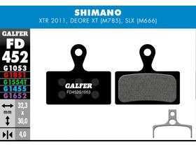 GALFER Shimano XT M8000 - SLX M7000 Wet Weather Disc Brake Pad (Red)