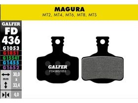 GALFER Magura MTS MT8 Wet Weather Disc Brake Pads (red)