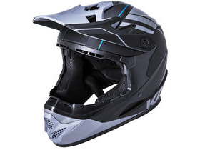 KALI PROTECTIVES Zoka Full Face Helmet in Black & Grey