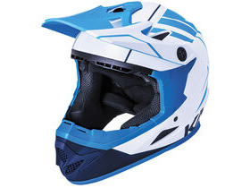 KALI PROTECTIVES Zoka Full Face Helmet in Blue & Navy