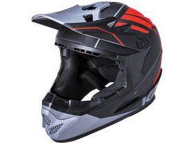 KALI PROTECTIVES Zoka Full Face Helmet in Red & Grey