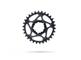 Absolute Black MTB Round SRAM GXP Direct Mount Black