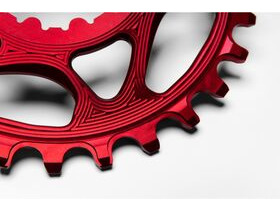 Absolute Black MTB Round SRAM GXP Direct Mount Red