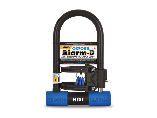 Alarm-D Midi Alarmed Bike Lock 260mm x 173mm Oxford Sold Secure Silver