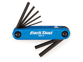 PARK TOOLS AWS-10 Fold-Up Hex Wrench Set 1.5 to 6mm