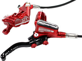 HOPE Tech3 E4 Braided Hose brake with Fixed Rotor and mount Red