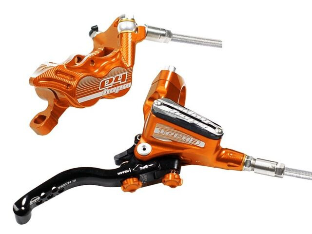HOPE Tech3 E4 Standard Hose brake with Fixed rotor and Mount Orange click to zoom image