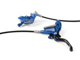 HOPE Tech3 E4 Standard Hose brakes Floating Rotors and Mounts Front and Rear in Blue