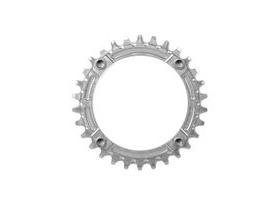 HOPE Narrow Wide Chainring 104 BCD in Silver