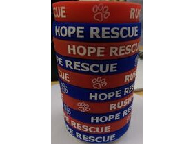RUSH Rush Cycles Hope Rescue Charity Band Blue
